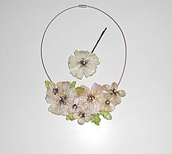 Náhrdelníky - vintage jabloňové flowers - 8229501_