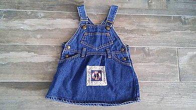 Detské oblečenie - Riflová sukňa s aplikáciou - 8229707_