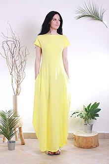 Šaty - MIESTNE DLHÉ OVERSIZED ŠATY (yellow) - 8230144_