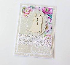 Papiernictvo - pohľadnica svadobná - 8228439_