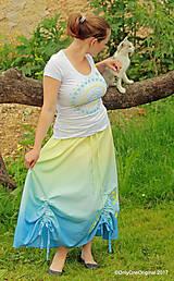 Sukne - Sukňa šitá, batikovaná, maľovaná, etno SARANYU - 8227806_
