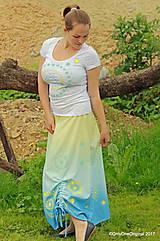 Sukne - Sukňa šitá, batikovaná, maľovaná, etno SARANYU - 8227821_