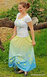 Sukne - Sukňa šitá, batikovaná, maľovaná, etno SARANYU - 8227834_
