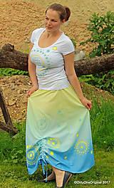 Sukne - Sukňa šitá, batikovaná, maľovaná, etno SARANYU - 8227849_
