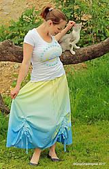 Sukne - Sukňa šitá, batikovaná, maľovaná, etno SARANYU - 8227858_