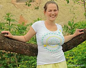 Tričká - Dámske tričko maľované, etno SÍTA - 8227713_