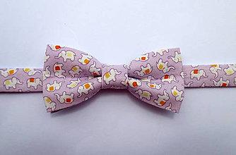 Detské doplnky - detský motýlik šťastíčko fialový - 8228741_
