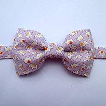 Detské doplnky - detský motýlik šťastíčko fialový - 8228764_