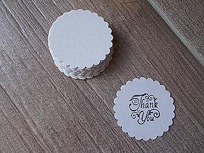 Papier - kartičky, visačky 5 cm, rôzne farby - 8228613_