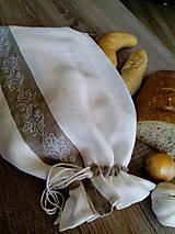 Úžitkový textil - Ľanové vrecko na chlieb, pečivo...... - 8230645_
