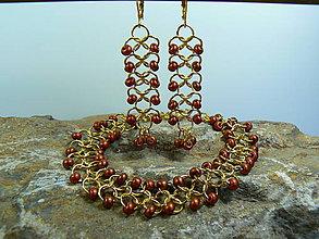 Sady šperkov - Sada náramok a náušnice - 8229084_