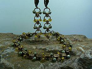 Sady šperkov - Sada náramok a náušnice - 8229219_