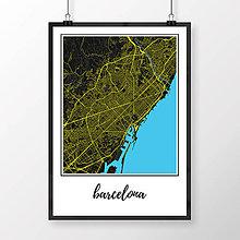 Obrazy - BARCELONA, klasická, čierna - 8227860_