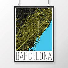 Obrazy - BARCELONA, moderná, čierna - 8227870_