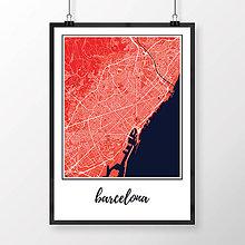 Obrazy - BARCELONA, klasická, červená - 8228084_