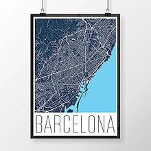 Obrazy - BARCELONA, moderná, tmavomodrá - 8228408_