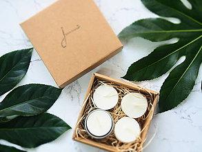 Svietidlá a sviečky - Čajové sviečky Jemnô - bez odpadu -  s kovovým svietnikom - 8228738_