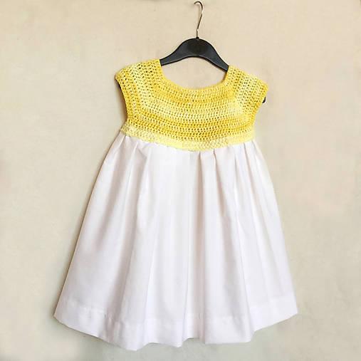Háčkované detské šaty so skladanou sukňou   Zamia - SAShE.sk ... e740c80e7a2