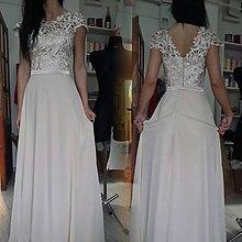 b2a25c498a62 Šaty - Spoločenské šaty z hrubej krajky veľ. 36 - 38 - 8229256