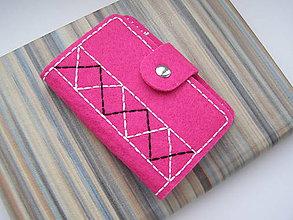 Peňaženky - Obal na doklady - Folk pink - 8227994_