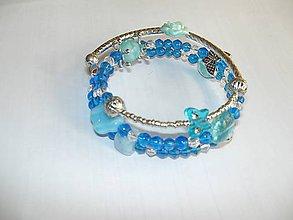 Náramky - pamäťový náramok Blue - 8227565_