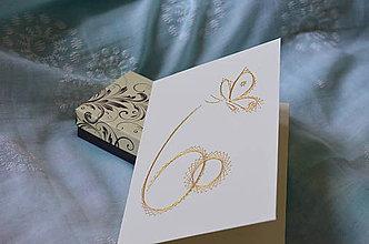 Papiernictvo - 60 (motýľ zlatý) - 8228424_
