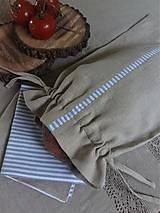 - Vrecko na chlieb Mediteran Style (Vrecko na pečivo podšité) - 8227776_