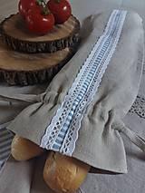 Úžitkový textil - Vrecko na bagety Mediteran Style - 8227897_