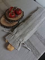 Úžitkový textil - Vrecko na bagety Natural - 8227951_