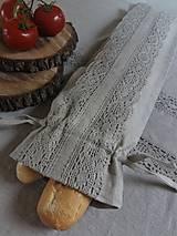 Úžitkový textil - Vrecko na bagety Natural - 8227964_