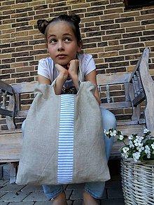 Kabelky - Ľanová taška Mediteran Style - 8228254_