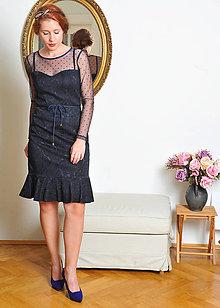 Šaty - Spoločenské šaty s tylovými rukávmi - 8227403_