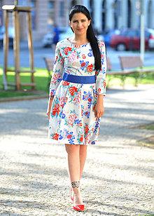 Šaty - Květované retro šaty, vel. 36 a 38 - 8227431_