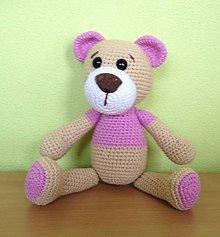 Hračky - Medvedička v ružovom - 8231028_