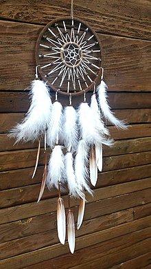 Dekorácie - Lapač snov - biely lúč  - 8231052_