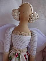 Bábiky - Anjelka v ružičkovej sukienke - 8231498_