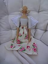 Bábiky - Anjelka v ružičkovej sukienke - 8231499_