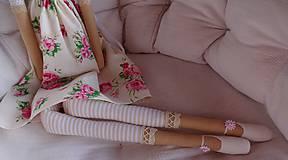 Bábiky - Anjelka v ružičkovej sukienke - 8231501_