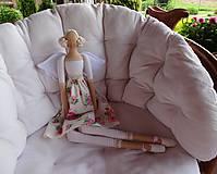 Bábiky - Anjelka v ružičkovej sukienke - 8231503_