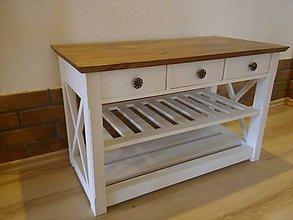 Nábytok - lavička so šuflíkmi - 8231783_