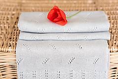 """Textil - Letná detská deka, """"Daisy"""",OEKO-TEX® - Šedá - 8232817_"""