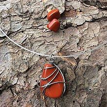 Sady šperkov - sada šperkov s červeným jaspisom - 8232414_