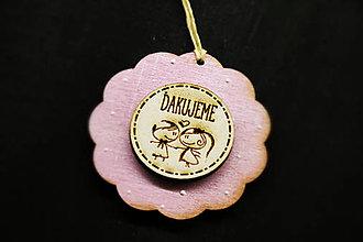 Darčeky pre svadobčanov - Svadobná drevená gravirovaná magnetka - 8233833_