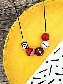 Náhrdelníky - Červený náhrdelník - 8234175_