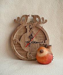 Hodiny - Vyrezávané hodiny Vtáčiky - 8232214_