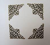 - Kovové rohy mosadzné- sada 4ks  veľkosť M - 8234298_