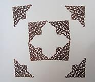 - Kovové rohy medené-sada 4 ks, veľkosť M - 8234328_
