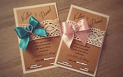 Papiernictvo - Svadobné oznámenie NEŽNOSŤ - 8233621_
