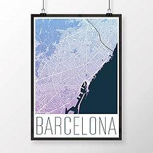 Obrazy - BARCELONA, moderná, modro-fialová - 8233475_