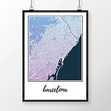 Obrazy - BARCELONA, klasická, modro-fialová - 8233485_